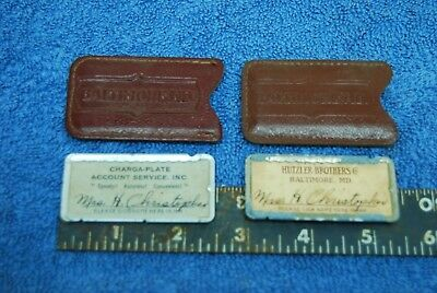 1940s Vintage Hutzler Brothers Baltimore Department Store Miniature Charge Cards