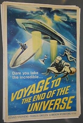 """Voyage to the End of the Universe 40"""" x 60"""" movie poster sci-fi outer space"""