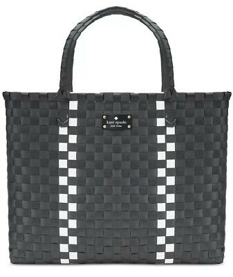 NEW LIMITED Edition KATE SPADE NEW YORK Large Black Tote Beach Shopping Hand Bag