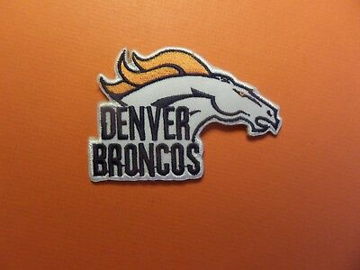 Denver Broncos Nfl Embroidered Iron On 2-3/8 X 3-1/2 Iron On Patch