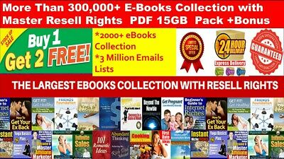 300,000+ E Books  Collection with Master Resell Right PDF 15 GB Package + Bonus