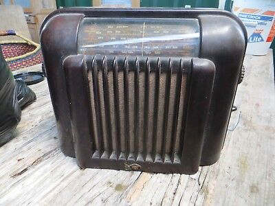 Lovely Old Art Deco Stc Bakelite Radio 37/17/27 Cm