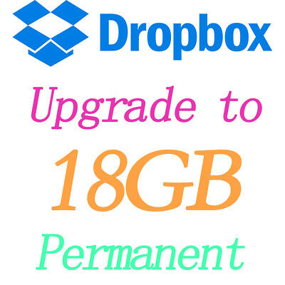 Dropbox Permanent 18 GB Lifetime Space Upgrade Account Pre Upgraded By Referral