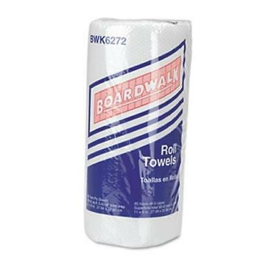 Boardwalk 6272 Paper Towel Rolls- Perforated 2-Ply- White- 85 Sheet - 30/Carton