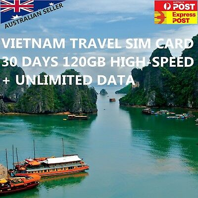 30 Days Vietnam Travel SIM Card - 120GB High-speed Data - $0.6 a day!