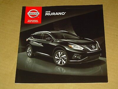2018 Nissan Murano Sales Brochure Mint! 16 Pages