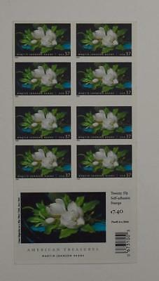 US SCOTT 3872a BOOKLET OF 20 GIANT MAGNOLIAS STAMPS 37 CENT FACE MNH
