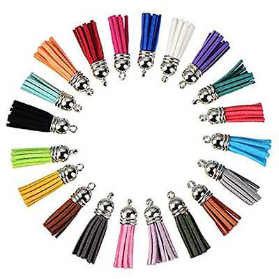10pcs Suede Tassel Leather Pendants for Keychain Bag Cellphone Decor Making DIY