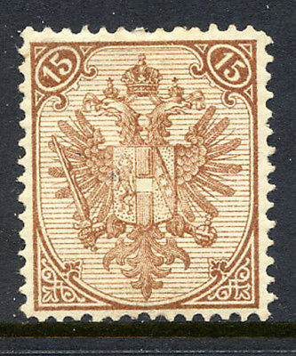 BOSNIA & HERZEGOVINA 1881 15 Kr  Type I lithographed perforated 13  LHM / *