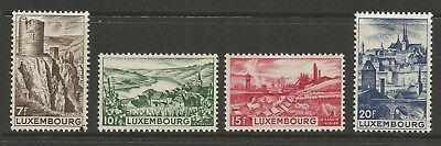LUXEMBOURG 1948 LANDSCAPES (4), Mi 431-434, MH*