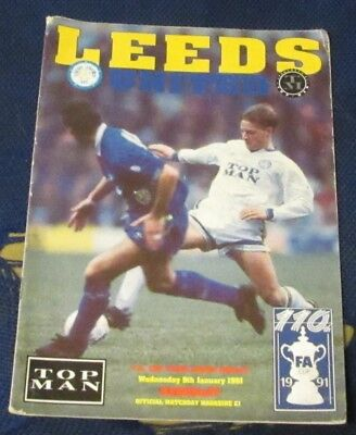 Leeds United Home Programmes 1990-1991