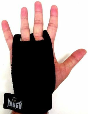 Children's Gymnastic Leather Hand Grip Guards Palm Protector Protection Black