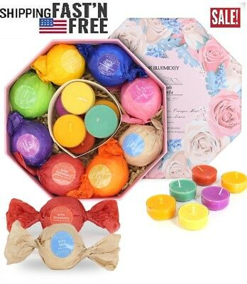 15 Pack Bath Bombs Gift Set for Kids with Natural Ingredients, Colorfull Egg Sha
