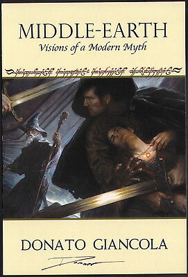 Donato Giancola Signed Lord of the Rings Fantasy Art Post Card Gandalf Frodo