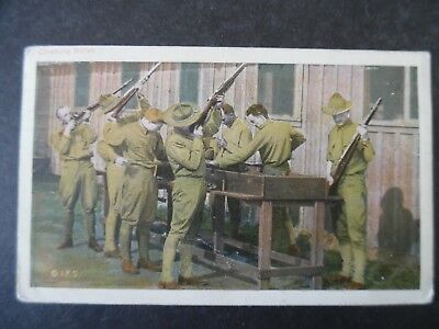 1918 WWI Soldiers Cleaning Rifles Postcard Used Camp Upton New York Cancel