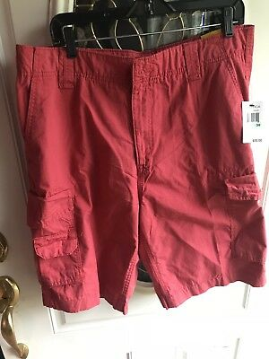 Nautica Cargo Shorts 34 Front Back Side Pockets NWT $55.00