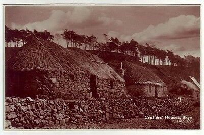 Crofters Houses Isle Of Skye Real Photograph Taken 1890 Valentines 11810 Old PC
