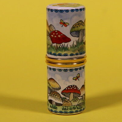 Halcyon Days Enamels Needle Case Toadstools