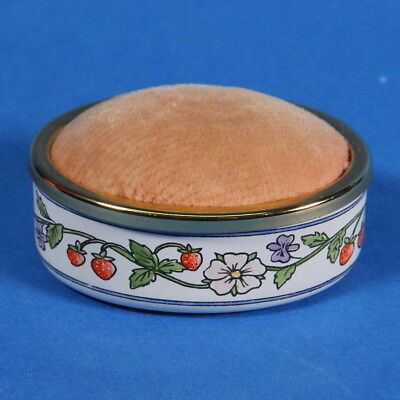 Staffordshire Enamels Pin Cushion Flowers And Berries