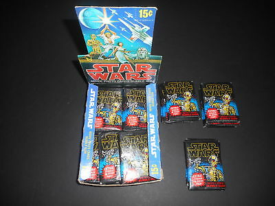 (1) 1977 Topps Star Wars 1st Series 1 Blue Border Unopened Sealed Wax Pack EX-
