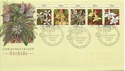 1993 Christmas Island - Christmas Island Orchids First Day Cover FDI