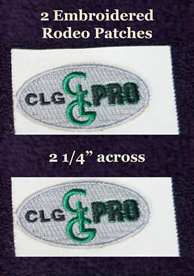 2 CLG Pro Rodeo Hat Stickers - PBR;PRCA;IPRA;Little Britches-Hat patches-      A