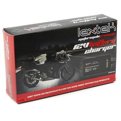 Lextek Motorcycle Motorbike & Scooter 12v Battery Optimiser Charger & Maintainer