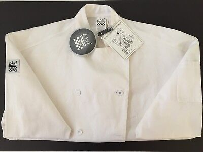 CHEF REVIVAL Long Sleeve White Chef Jacket Size Regular NWT