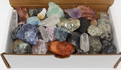 Bulk Crafters Collection 1 lb Mix Gems Crystals Natural Raw Mineral Rocks