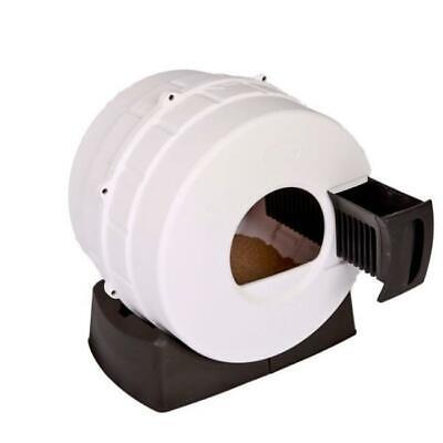 Smart Choice Pet Products Litter Spinner Quick Clean Cat Litter Box Witty White