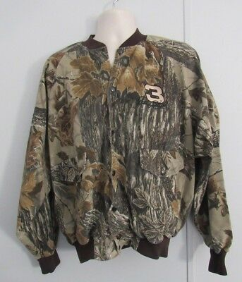CHASE AUTHENTICS DALE EARNHARDT NASCAR RACING Camo Realtree JACKET Mens XXL A032