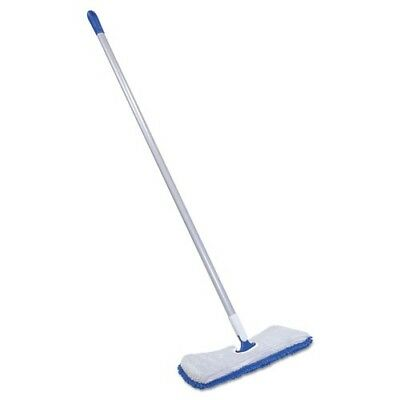 Quickie Manufacturing 19.5 in. Flip & Shine Microfiber Floor Mop Blue & Gray