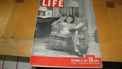 1942 Life Magazine  December 21  Lonely Wife   High Grade Lowest Price On  Ebay
