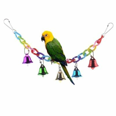 Perch Parrot Swing Budgie Toy Cage Bell Stack Bird Parakeet Bird Toys