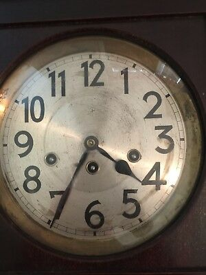 Vintage Junghans Wall Clock with Westminster Chimes Strikes & Chimes