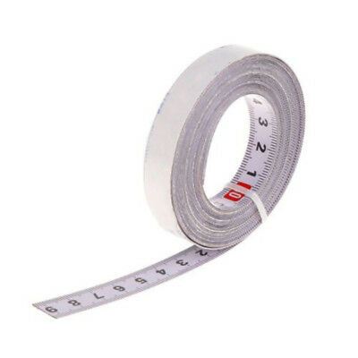 White Self Adhesive Vinyl Measuring Tape / Ruler Sticker Sticky Measure Tool Use