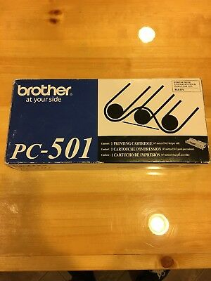 GENUINE BROTHER PC-501 Print Cartridge for Fax 575 - New -
