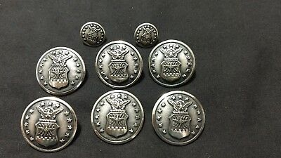 Vintage 13 Star Eagle Military Buttons Scovill Mfg Co Waterbury, Conn EUC