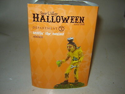 Dept 56 SV Halloween - Testin' The Toxins - NIB