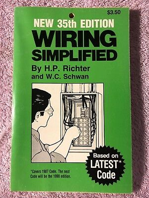 Wiring Simplified 35Th Edition - Covers 1987 Code 1986 Pb 160 Pages