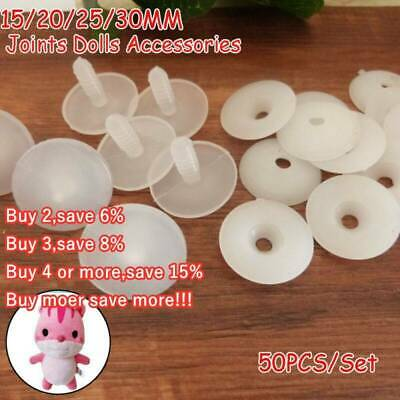 50 sets Plastic Animal Joints for Dolls, Soft Toys/Teddy Bear Making Crafts --