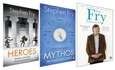 Mythos Heroes Fry Chronicles Stephen fry 3 books collection set pack NEW