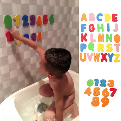 36 PCS Bath Learn Letters & Numbers Stick Floating EVA Baby Bathroom Water Toys