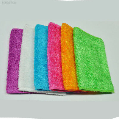 406A 10pcs Bamboo Fiber Dish Towel Dishcloth Cleaning Cloths Kitchen Duster Rand