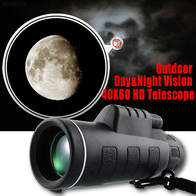 6EAA Night Vision 40x60 HD Optical Monocular Telescope Outdoor Sports Camping To