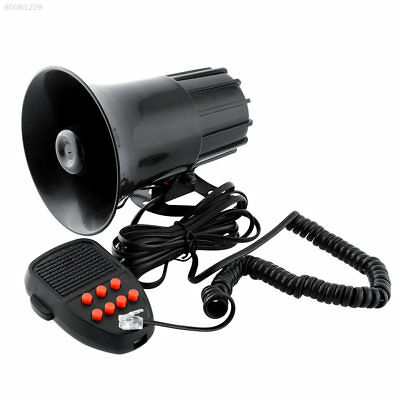 305C New 12V Loud Horn 7 Sounds Car PA Speaker System Truck Police Constable