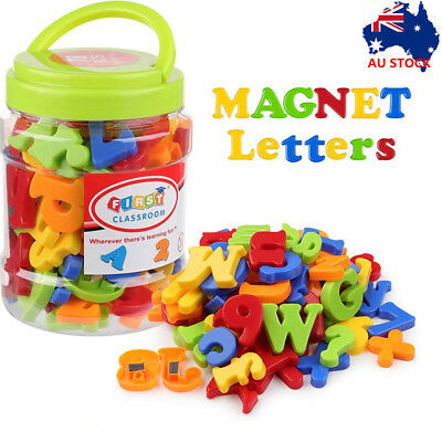 Magnetic Numbers Letters Alphabet Learning Toy Fridge Magnets Xmas gift