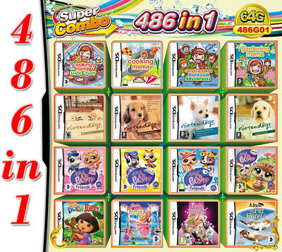 NDS 486 in 1 Game Cartridge Pet Multicart for Nintendo DS NDSL NDSi 3DS 2DS XL