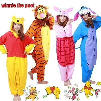 Hot Sale Winnie The Poot Adult Costume Kigurum Pajamas Christmas Cosplay Pyjamas