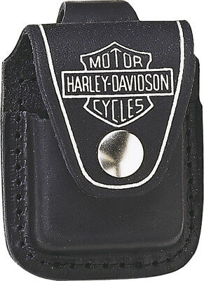Zippo ZO17080 Lighter Harley Lighter Pouch Black Leather Loop World Fa